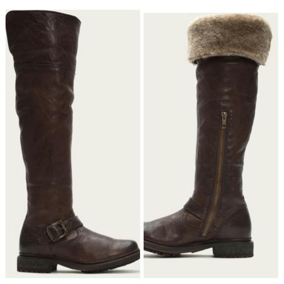 6c199f01345 Frye NIB Valerie OTK Shearling Boots BROWN